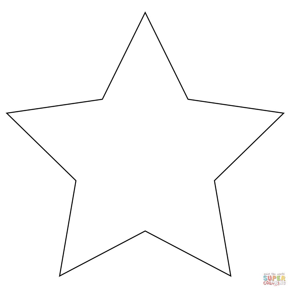 ster kleurplaat simpel kleurplatenl
