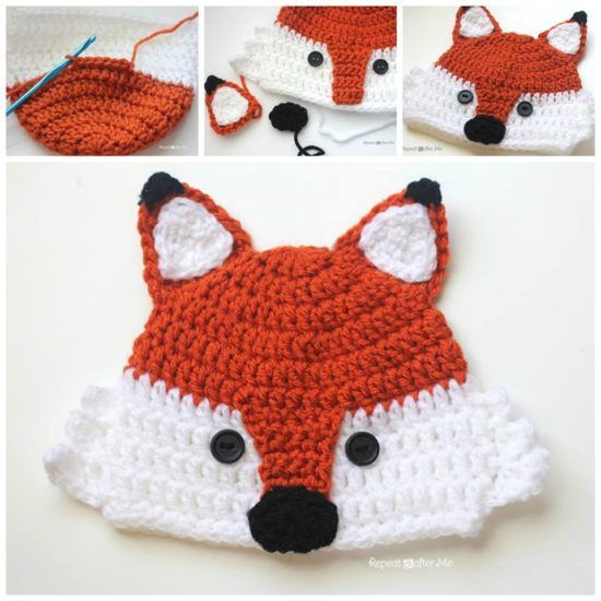 Free Crochet Baby Animal Hats Pinterest Top Pins Hatsheadbands