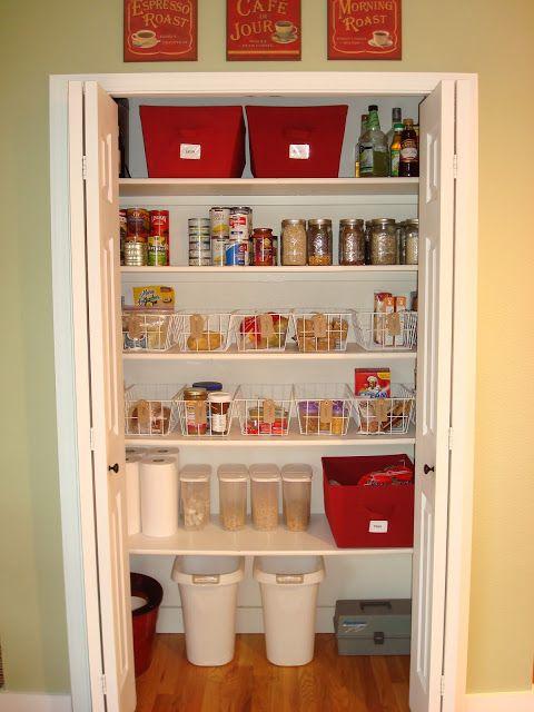 Organizing a Kitchen Pantry Closet Pantry organisation, Pantry and