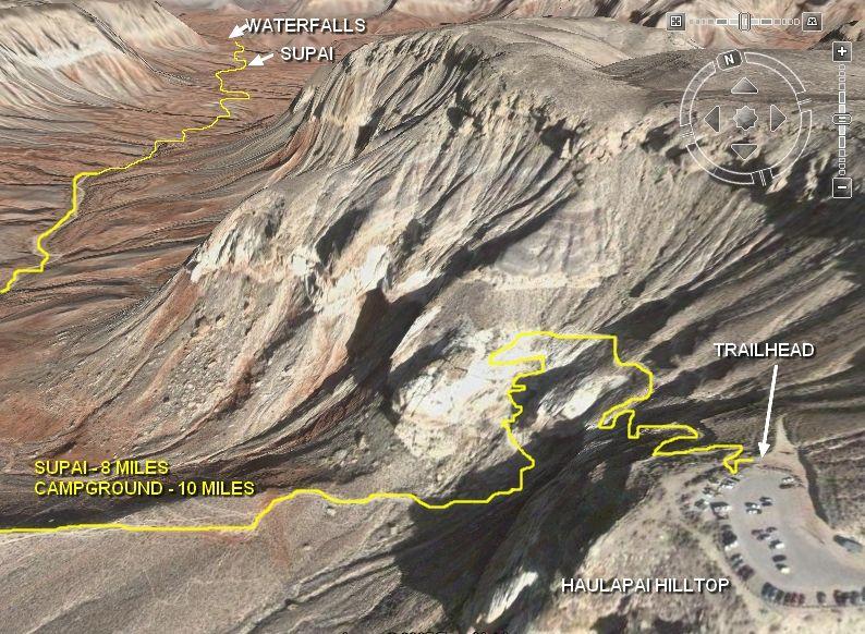 Havasupai Falls Tours Directions  Maps Of Havasupai And