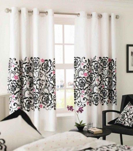 tende bianche decorate salotto | arredamento- interno e esterno ...