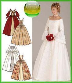 Simplicity 4731 STUNNING Medieval Wedding Dress Patterns