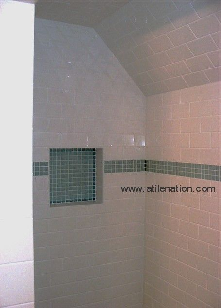 Subway tile shower installation   Favorite Places and Spaces ...