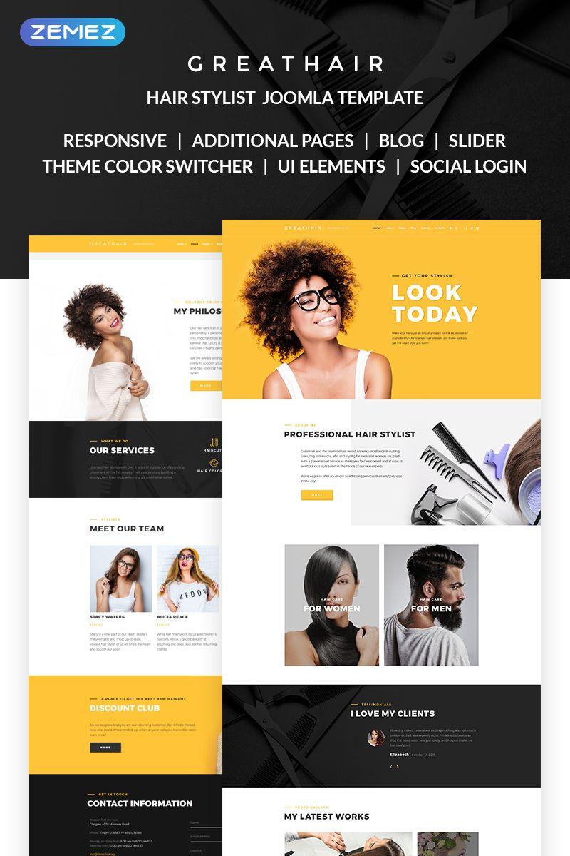 Greathair - Fancy Hair Stylist Joomla Template | New Website ...