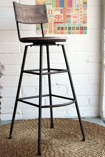 Industrial Kitchen Stools Faucet Spray Head Extra Tall Swiveling Bar Stool