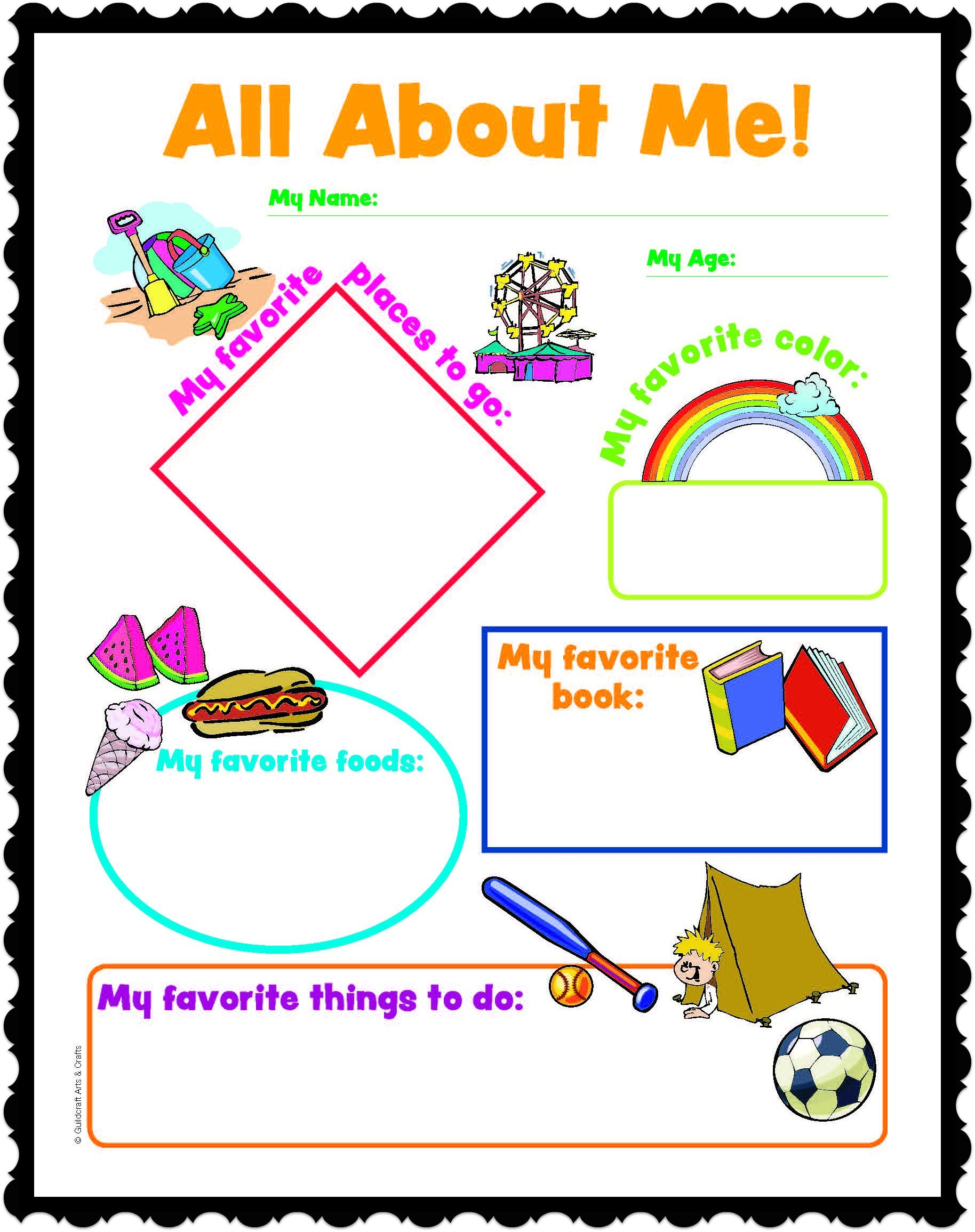 All About Me Printables