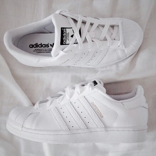 adidas superstar all white tumblr