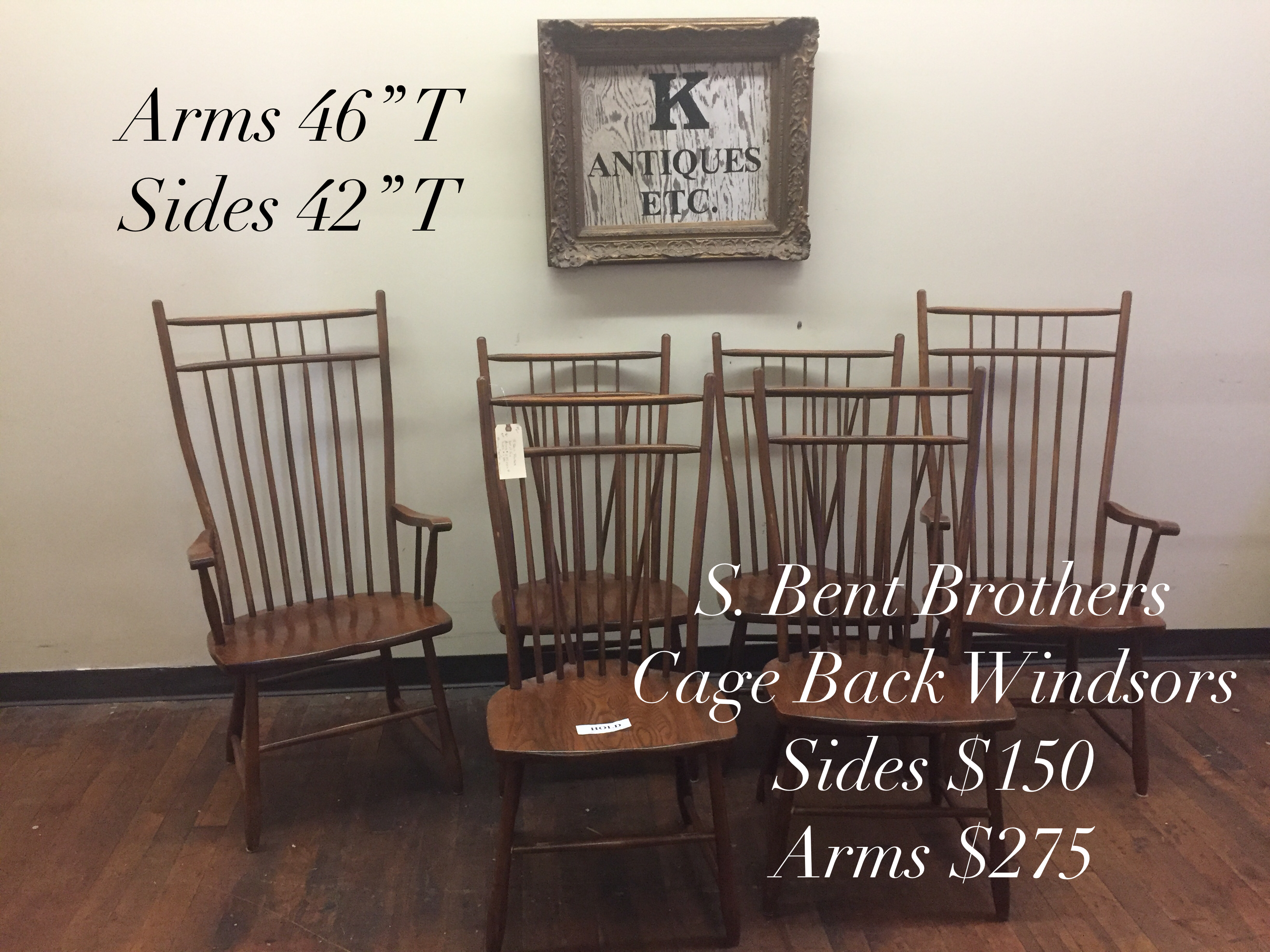 Cage Back Or Bird Windsor Chairs By S Bent Brothers Of Gardner Ma 1867 2000 Extremely Tall And Wide Available From K Antiques Etc Specializing In