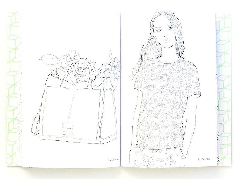 Franzosisches Buch My Fashion Coloriage 100 Pieces De Mode A