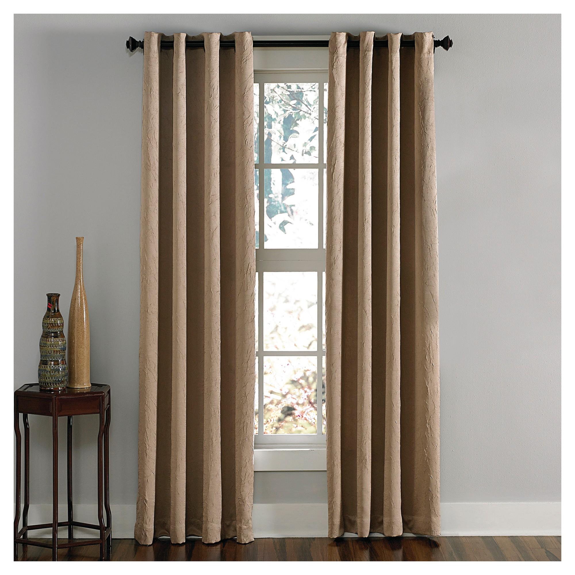 Curtainworks Lenox Room Darkening Curtain Panel Taupe 132
