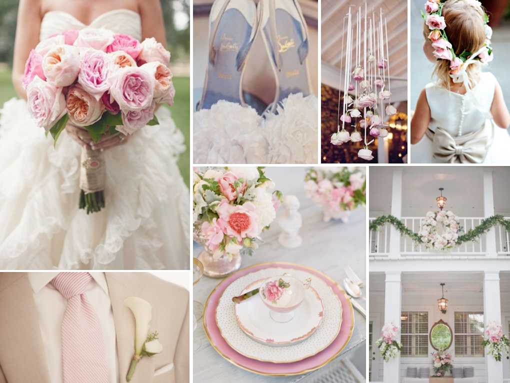 {southern princess} white and pink southern wedding