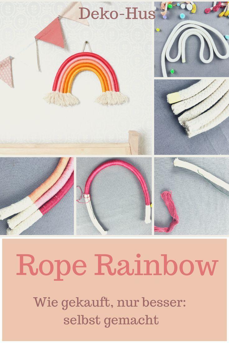 DIY Seil Regenbogen selber machen - Deko-Hus