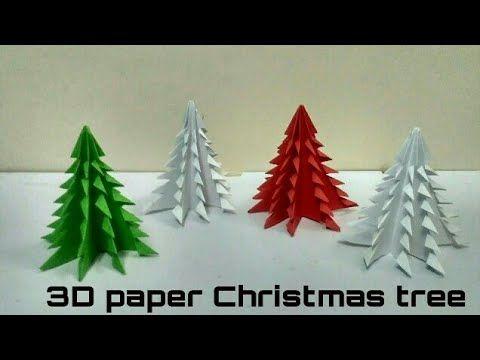3D Paper Christmas Tree Christmas Decoration X- Mas decoration