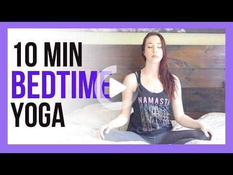 10 min yoga in bed  bedtime yoga stretch for sleep  bed