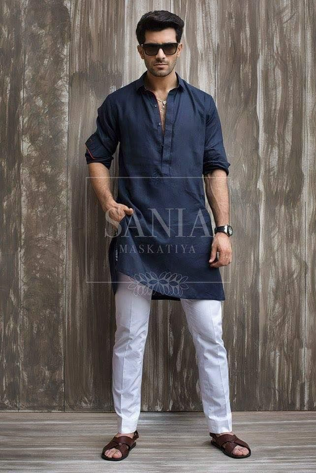 I like this casual medium length Kurta.