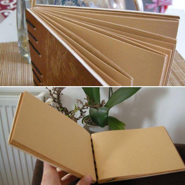 Handmade wood cover notebook #plywood #woodcover #copticstitch #copticbinding #elyapimidefter #handmade #bookbinding