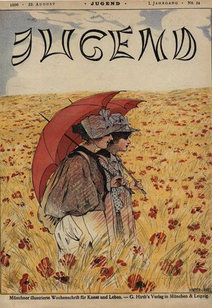 "Cover of ""Jugend"" magazine no. 34 by Hans Meyer-Kassel (1872-1952), August 22, 1896"