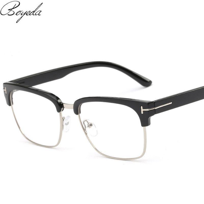 Brand Half Frame Female Eyeglasses Men Vintage Eye Glasses Frame for ...