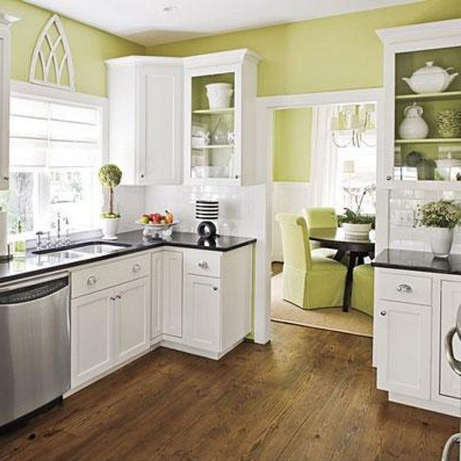 Color Ideas For Kitchen Cabinets: White Kitchen Cabinets Color Schemes Small Ideas