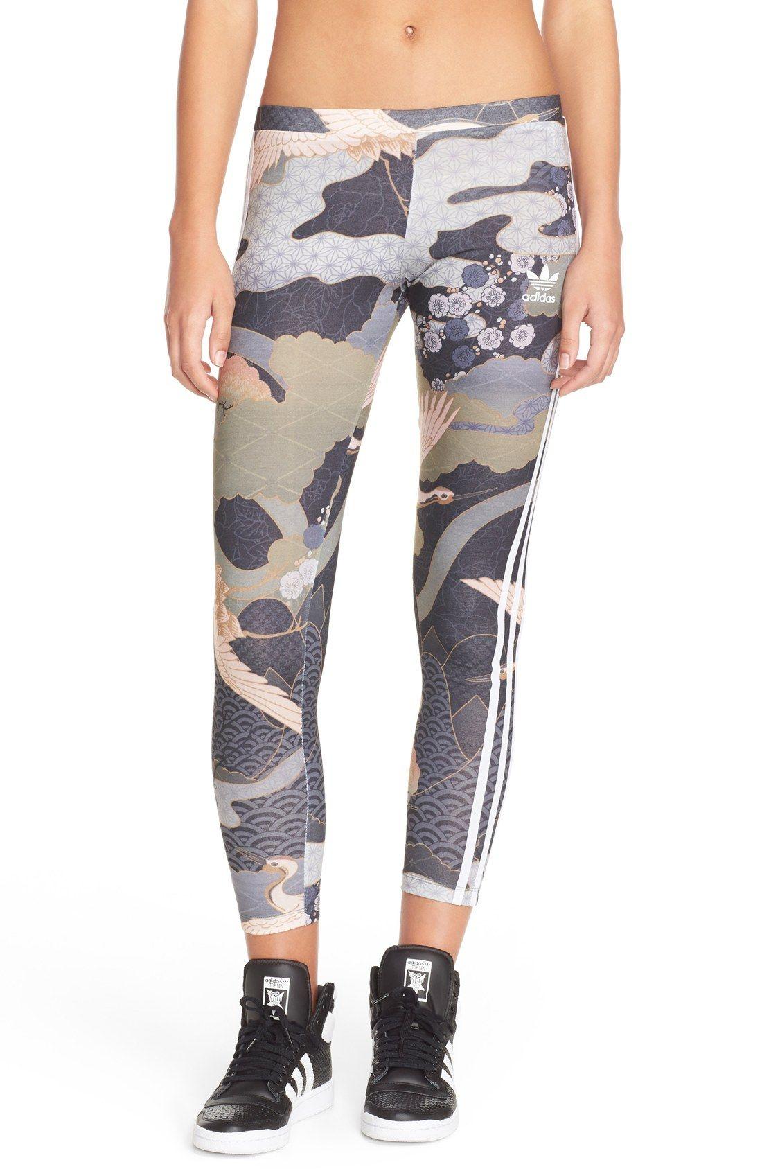 adidas Originals 'Kimono Print' 3-Stripes Leggings