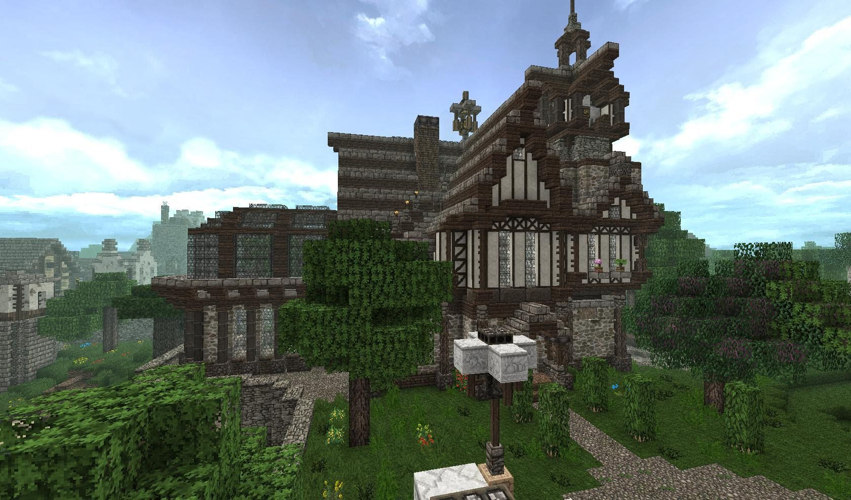 Minecraft Mittelalter Haus Mit Redstonedusche Gotisch - Minecraft haus ideen anleitung