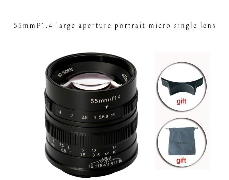 Best price 7artisans 55mm f14 large aperture portrait