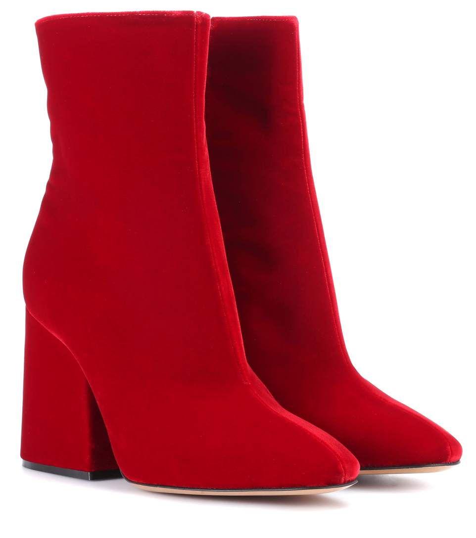 Maison Martin Margiela Velvet Ankle Boots 8OBDyom