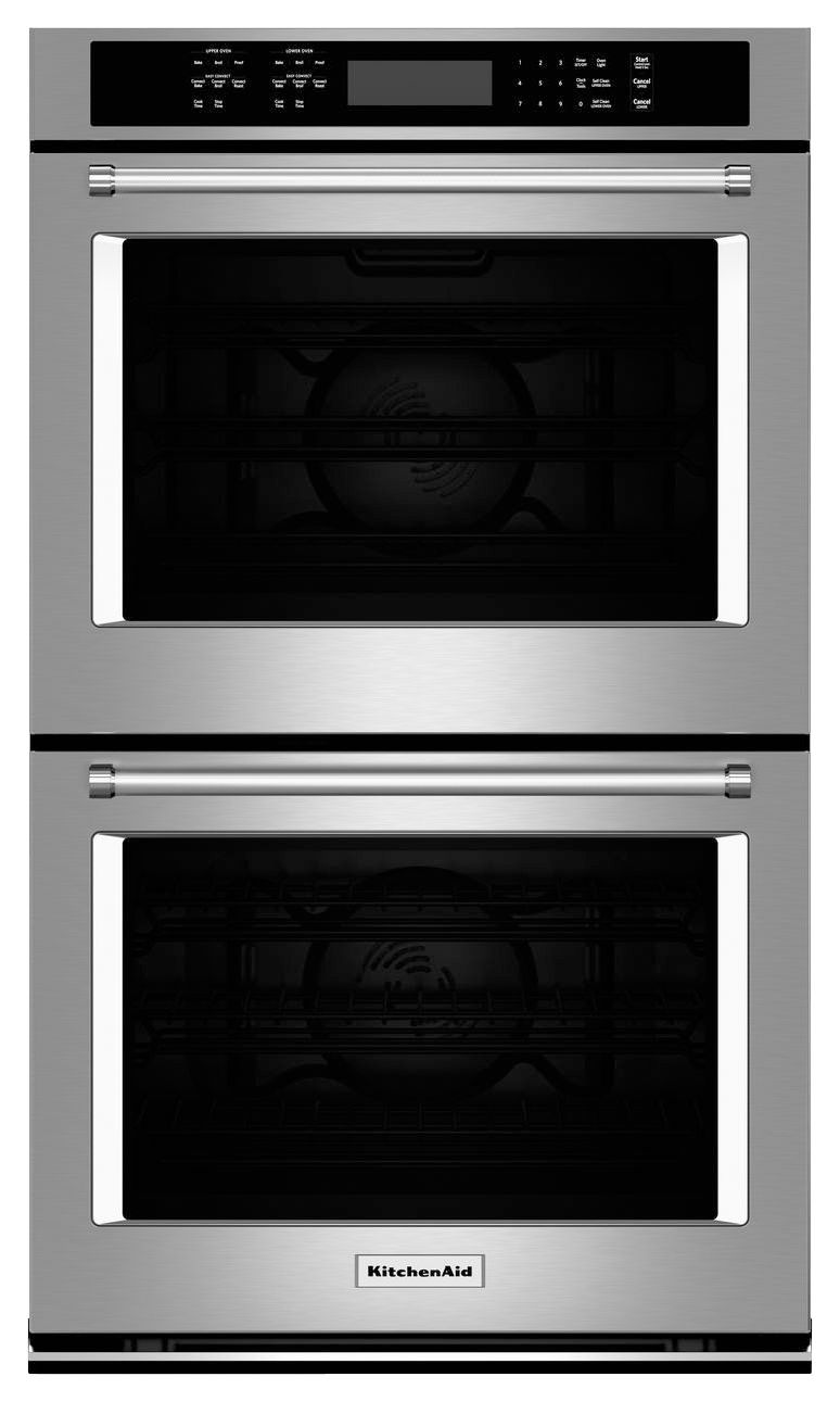 Kitchenaid 27 builtin double electric convection wall