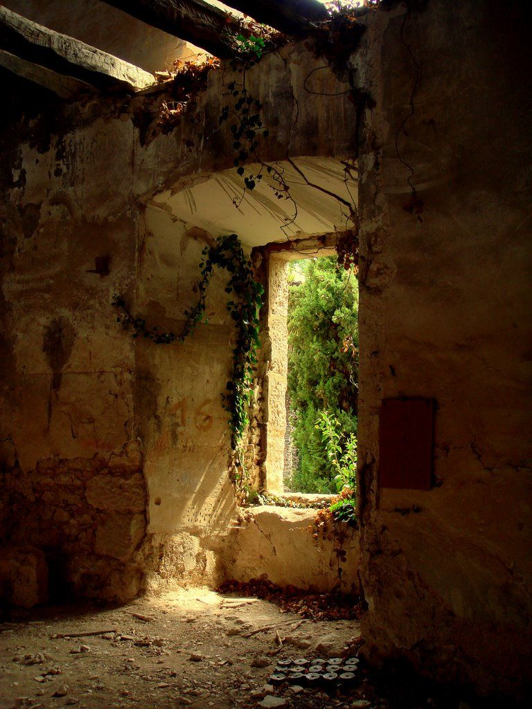 Open window in the abandoned old textile factory (My
