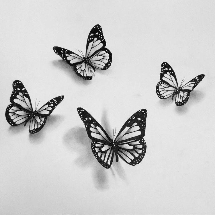 Butterfly Schmetterlingszeichnung Schmetterling Tattoo Vorlage 3d Schmetterling Tattoo