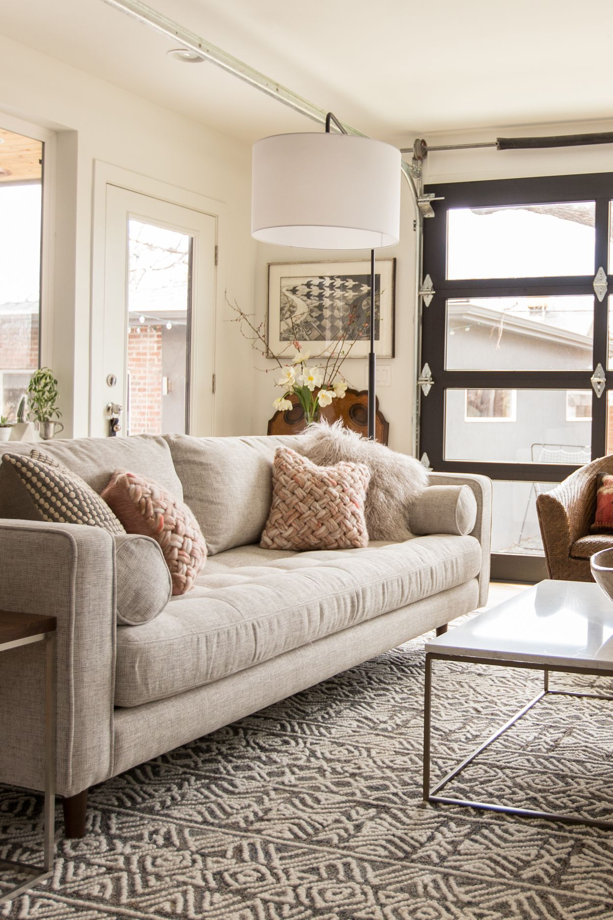 The Other Reason That I Love The New Sven Sofa Is That The Slightly Higher Arms Create A Rounded F Beige Sofa Living Room Living Room Sofa Living Room Designs