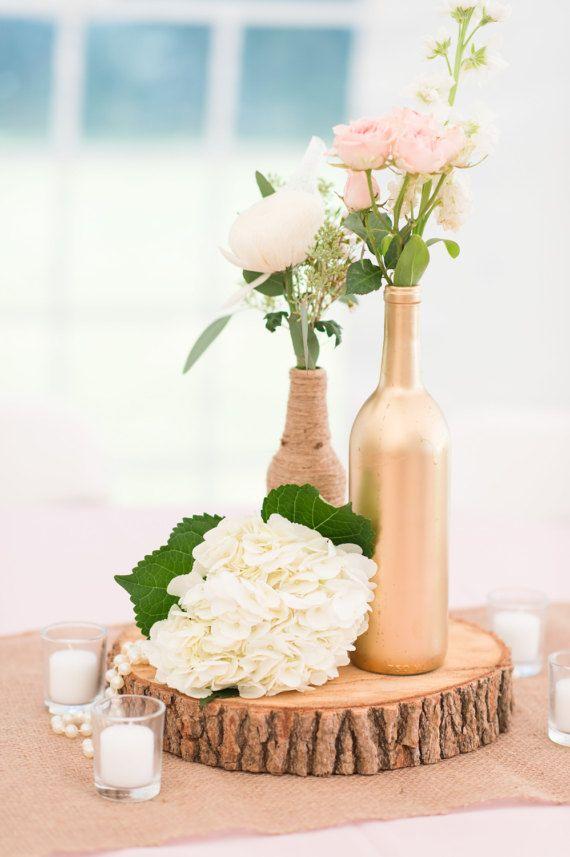 Wine Bottle Centerpiece, Wine Bottle Wedding Decor, Wine bottle ...