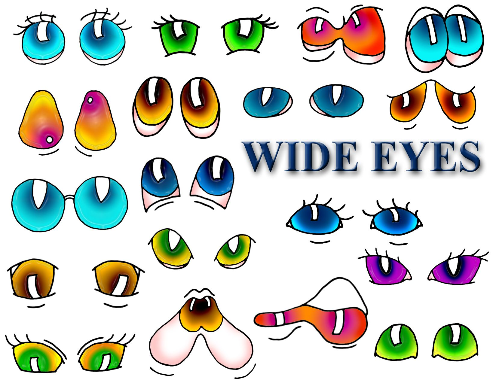 Cute cartoon animals with big eyes - Animal Eyes More Difficult 3a