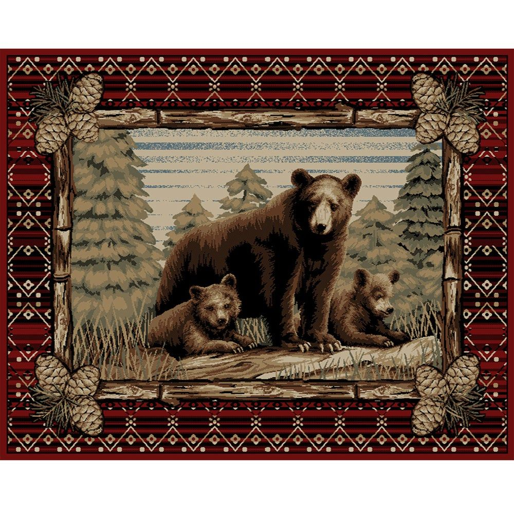 Overstock Com Online Shopping Bedding Furniture Electronics Jewelry Clothing More In 2020 Bear Area Rug Rustic Bear Bear Cabin