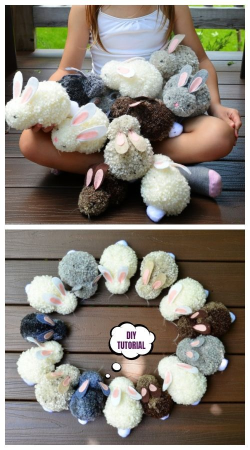 Easter DIY Pom Pom Bunny Tutorials  DIY   | Home 5