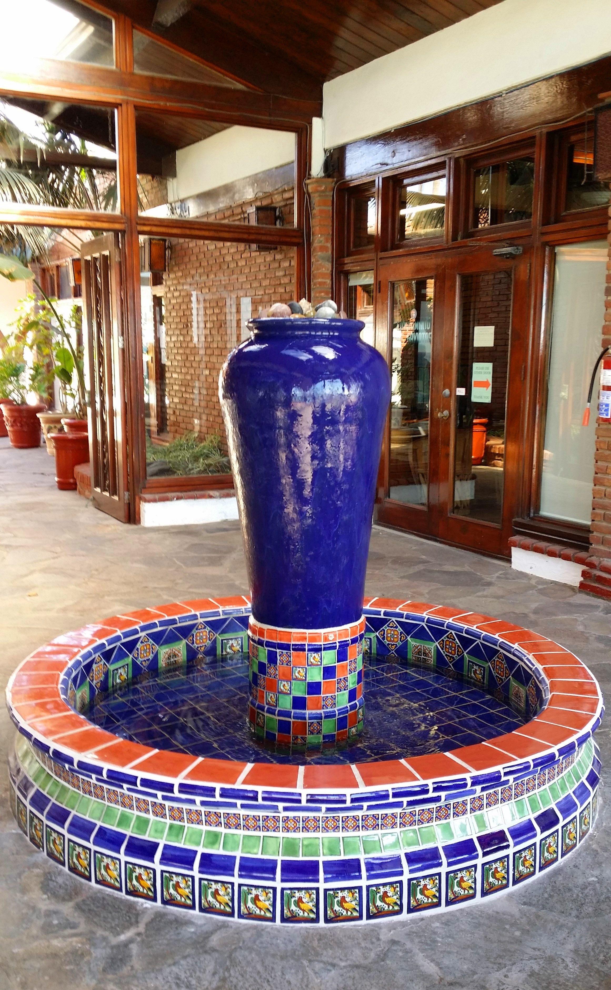 Mexican tile fountain at Las Gaviotas Clubnouse by