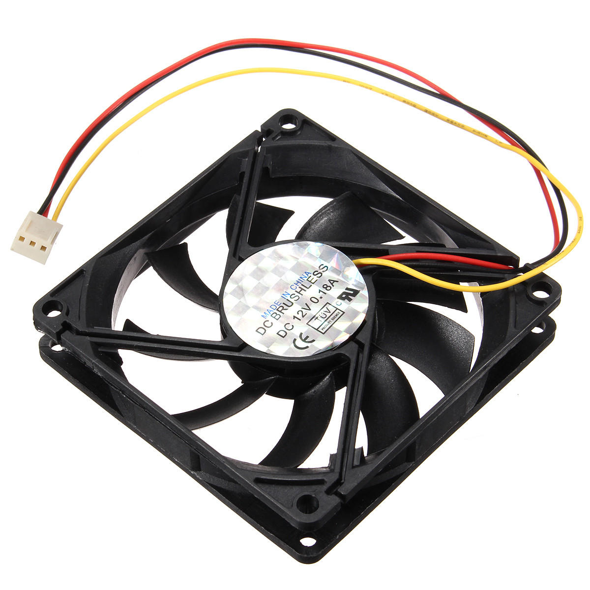 Us 2 49 80x80x15mm 3 Pin 12v Cpu Cooling Fan Cooler Pc Computer