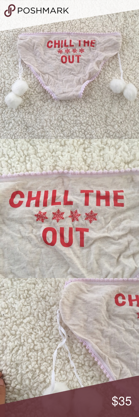 CHILL THE **** OUT Panties Used Once • Christmas Undies Victoria's Secret Intimates & Sleepwear Panties