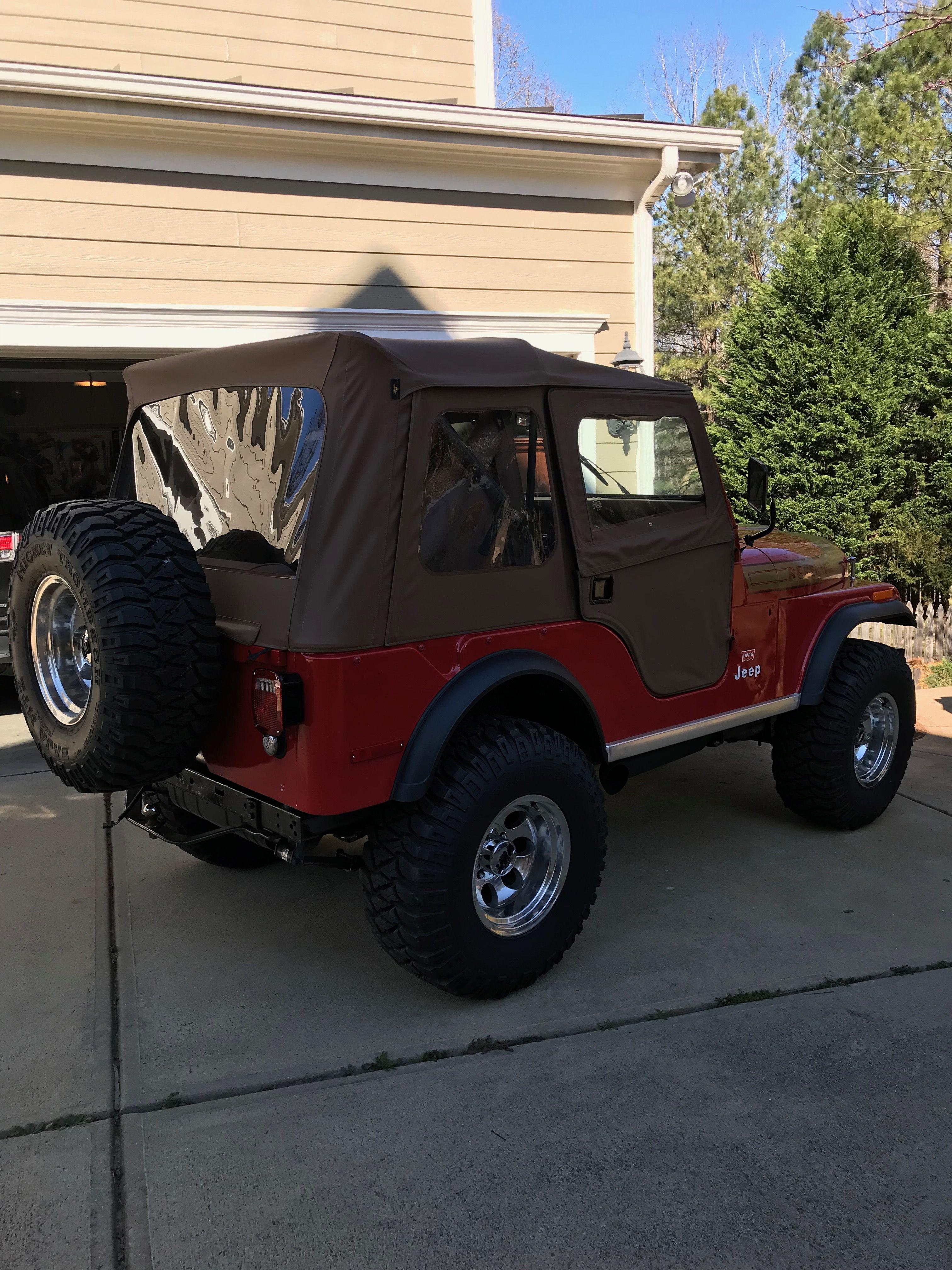 Cj5 Red With Tan Soft Top Red Jeep Jeep Cj Jeep