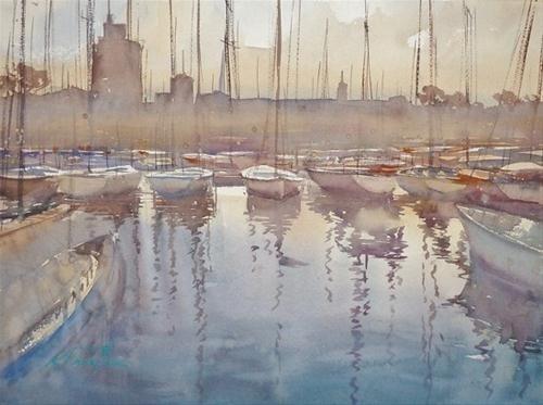 La Rochelle Ii French Landscape Painting Original Fine Art For
