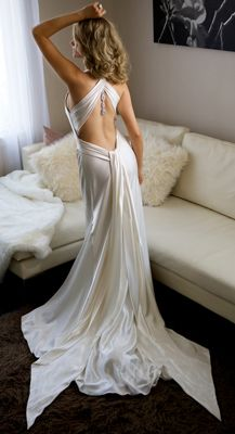 A Full Length View Of The Back Millionaire Dress