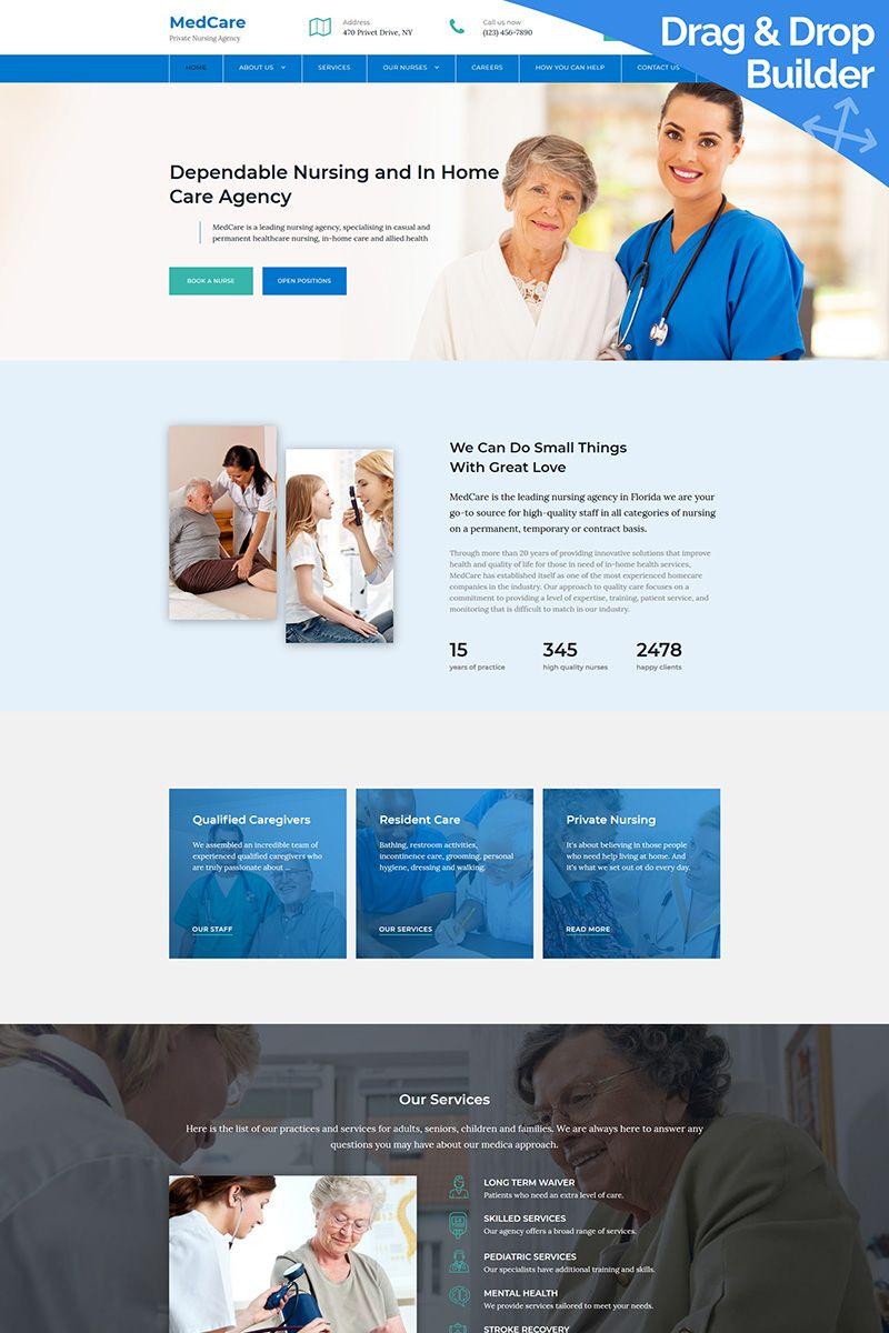 Nursing Agency Premium Moto Cms 3 Template Motocms3