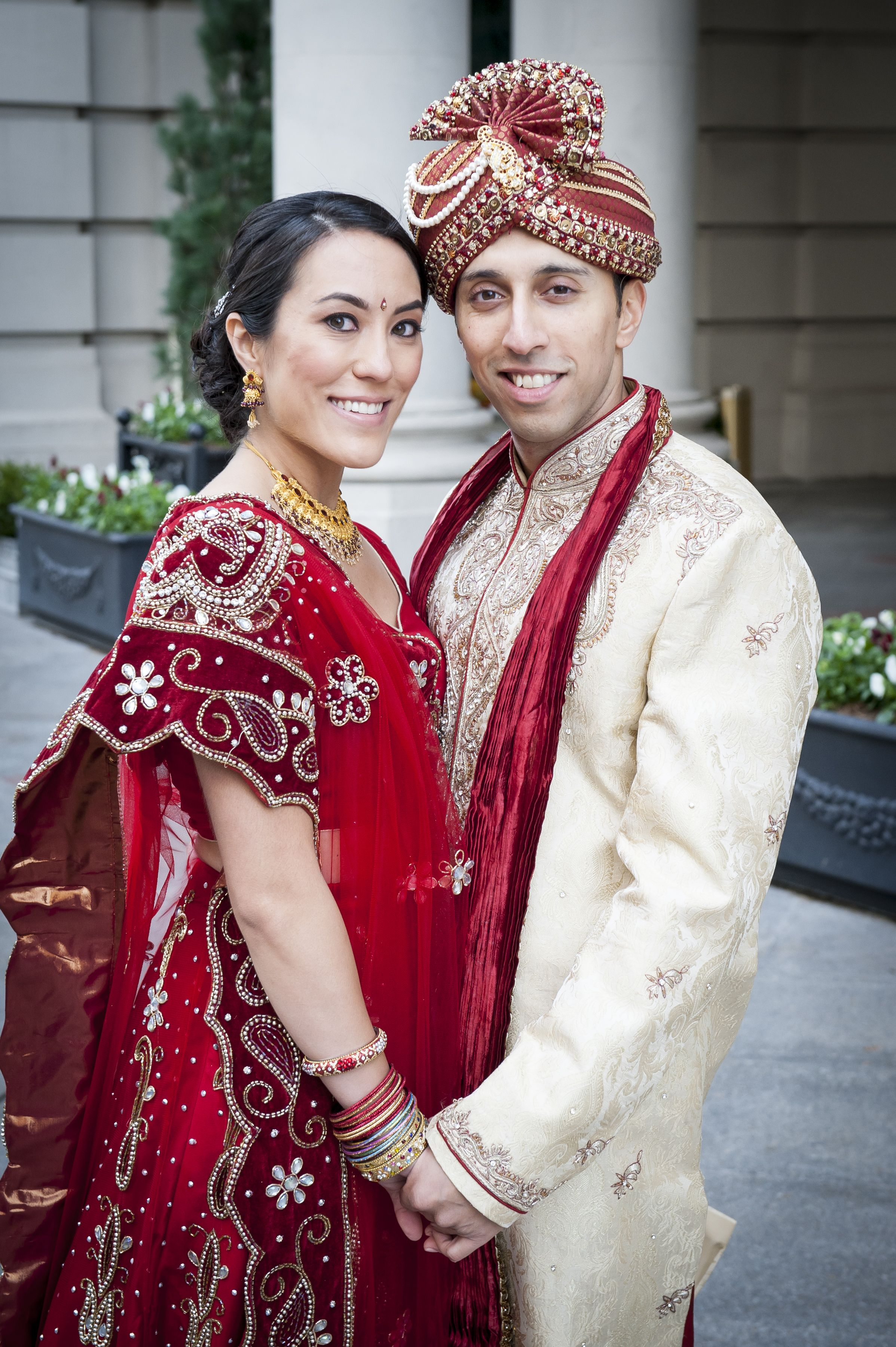 KoreanAmerican bride and Indian groom Indian wedding in
