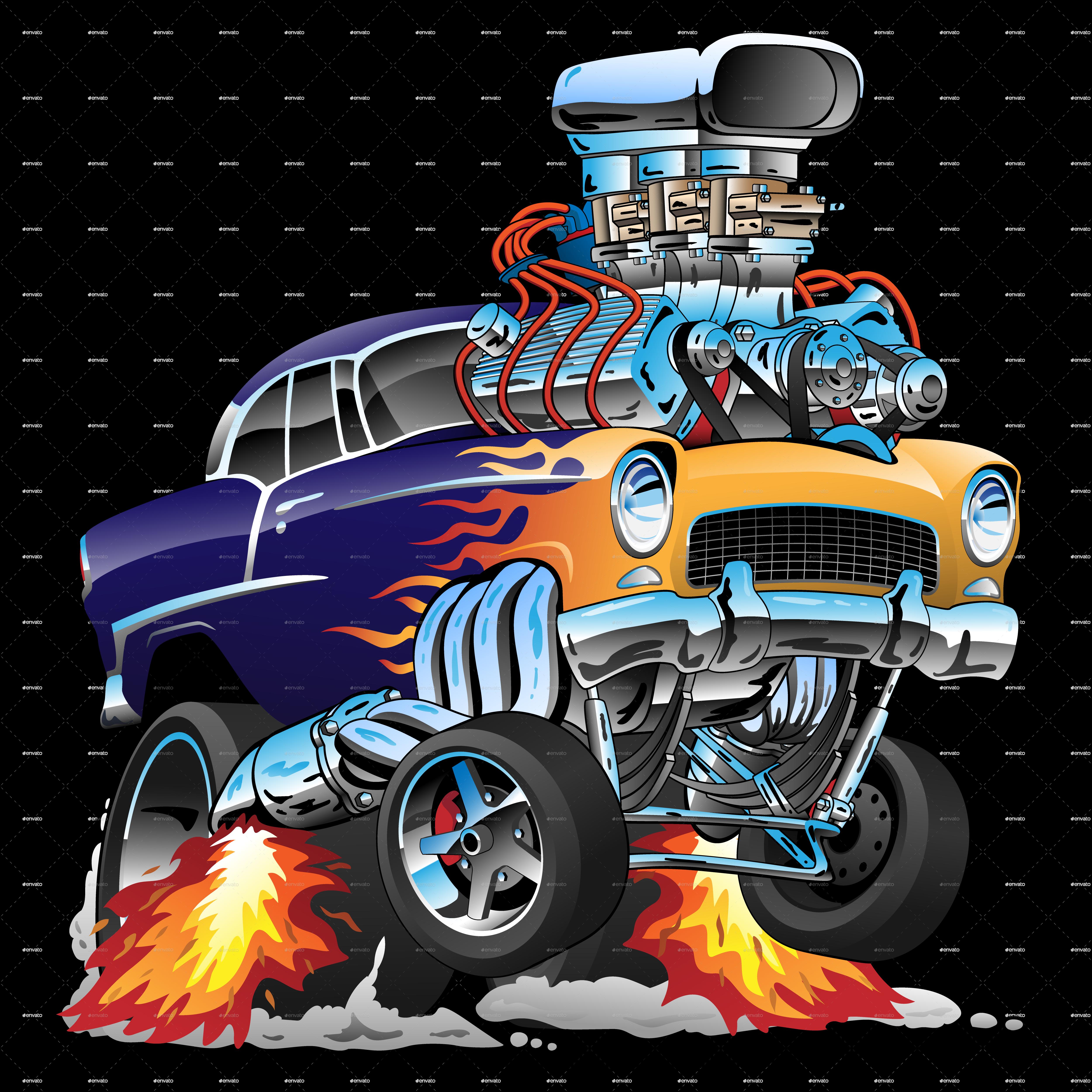 Classic Hot Rod Cool Car Drawings Car Cartoon Hot Rods Cars