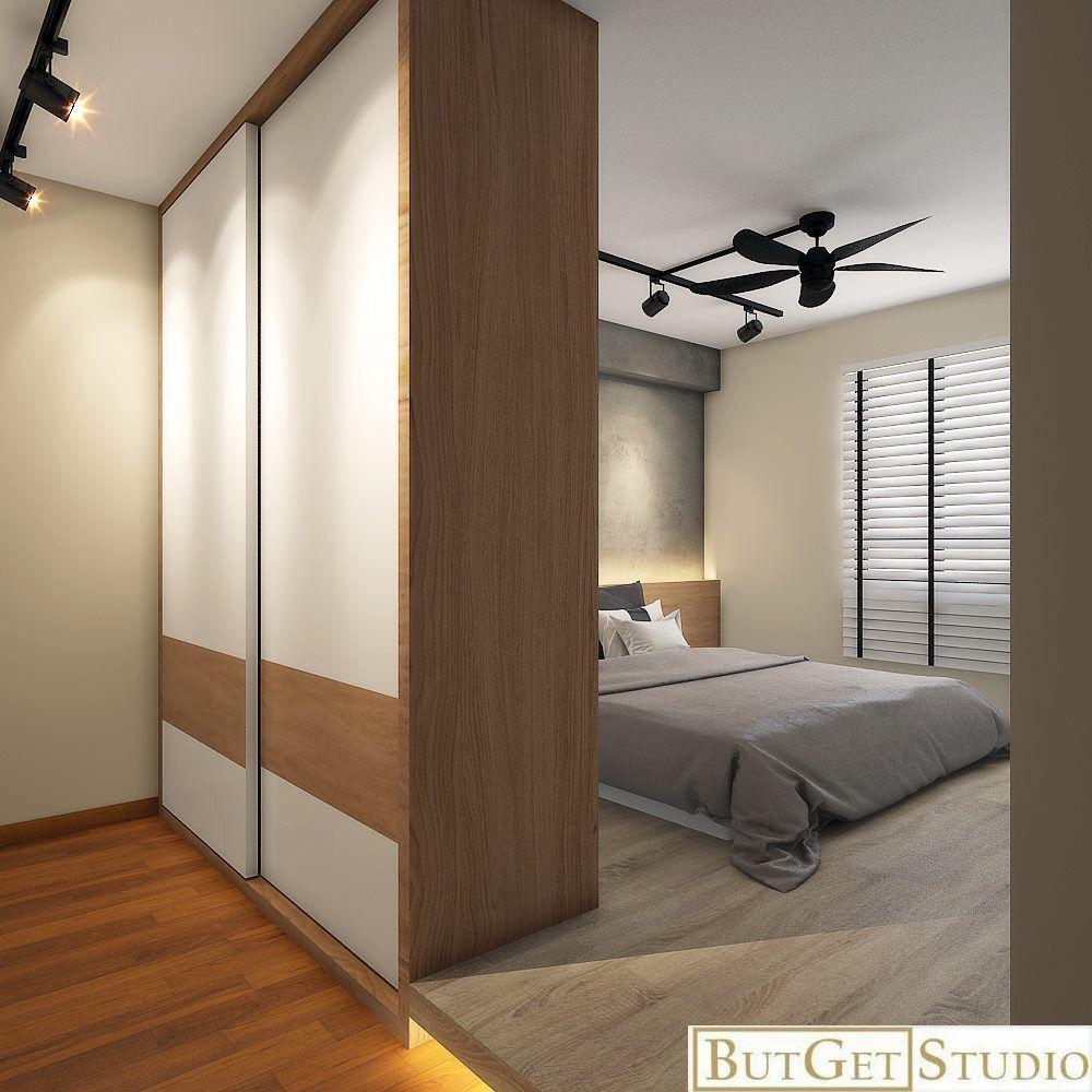 Walk In Wardrobe Platform Bed Scandinavian Style Interior Home N Decor Closet Bedroom