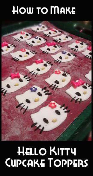 For You Lauren!!      How to make Hello Kitty Cupcake Toppers