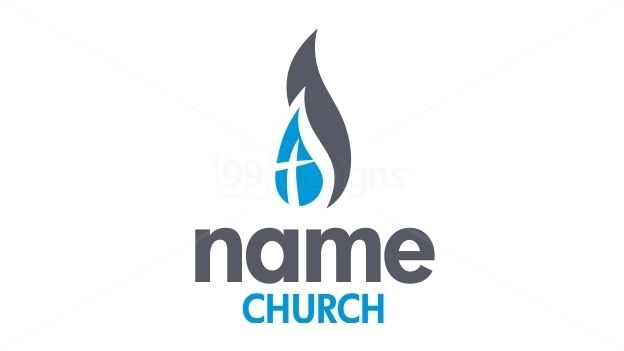 Christian Church - Fire and Water — Ready-made Logo Designs ...