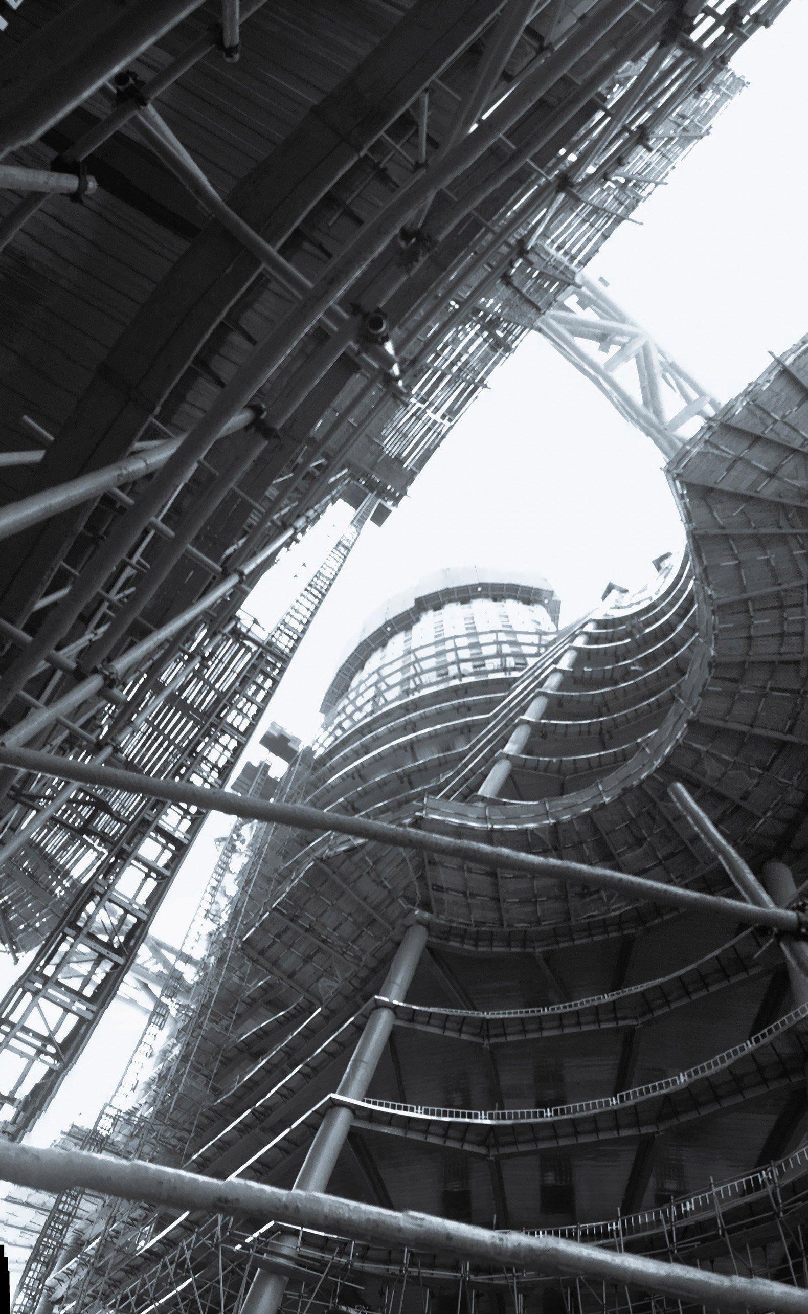 En construcción. Rascacielos Leeza SOHO de Zaha Hadid Architects. Fotografía © Di Ding. Cortesía de Zaha Hadid Architects y SOHO China