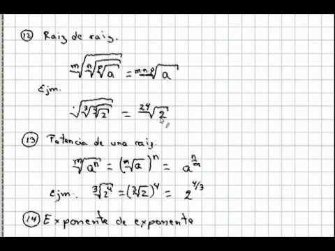 Teoría De Exponentes Y Radicales Problemas Matemáticos Matematicas Teoría
