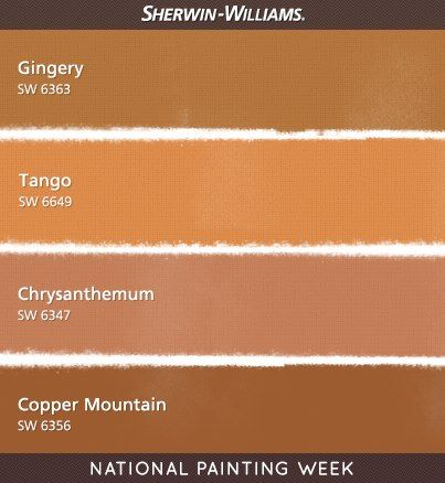 Warm Orange Paint Colors Sherwin Williams